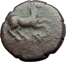MARONEIA Thrace 400BC Authentic Ancient Greek Coin w HORSE & WINE GRAPES i62002