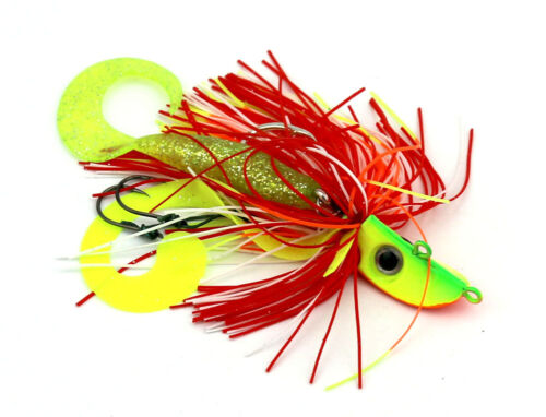 4pcs Fish Lead Jig Head Lures Rubber Skirts Hooks Saltwater Lure 4 color 20-150g