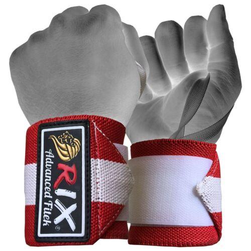 Rix Weight Lifting Wrist Wraps Bodybuilding Power Training Support Gym Straps 13