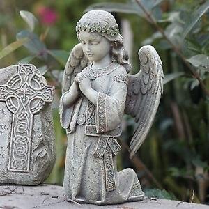 12 25 Celtic Irish Kneeling Praying Angel Garden Statue Joseph S Studio 62663 Ebay