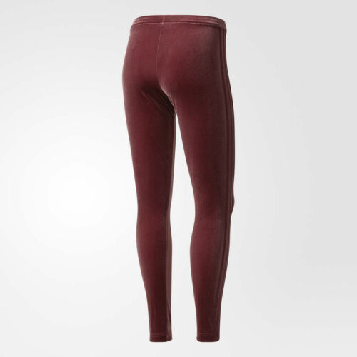 12 Adidas 744 Maroon 6 Uk Leggings 10 Originals W Velluto Nuovo EHnqc8