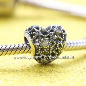 57581fe19 Image is loading Blooming-Heart-Authentic-Pandora-Sterling-Silver-with-CZ-