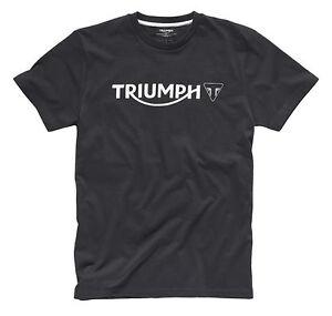 Brillant Genuine Triumph Motorcycles Logo T-shirt Noir T Shirt Small Medium Large Xlarge-afficher Le Titre D'origine Bonne Conservation De La Chaleur