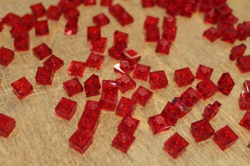 in Transparent Rot Platte 1x1 Trans red  NEU 200 x LEGO® Plate 3024