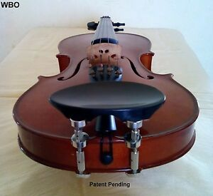 Violin Parts Height Adjustable Chinrest Flesch Patent Hiclamps Exclusive Wbo Ebay