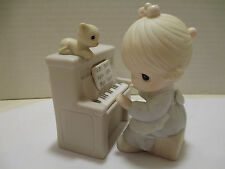 Precious Moments 2 Pc Set Girl Playing Piano Lord Keep My Life In Tune No. 12580