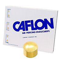 Caflon Ear Piercing Bezel Earrings Studs 4mm Gold Plated 12 Pair Sterilized Stud