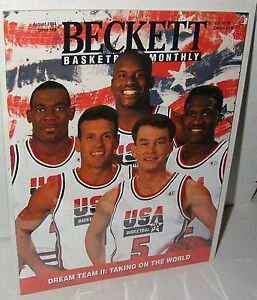 NBA-Beckett-August-1994-Issue-49-Olympic-USA-Men-039-s-Basketball-Shaquille-O-039-Neal