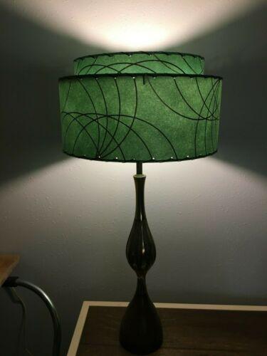 Mid Century Vintage Style 2 Tier Fiberglass Lamp Shade Modern Retro MCM ALP