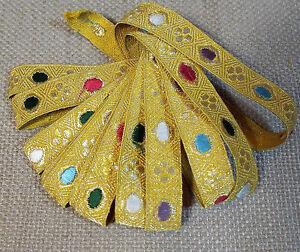 Antique French Gold Metallic Vestment Passementerie Trim Unused