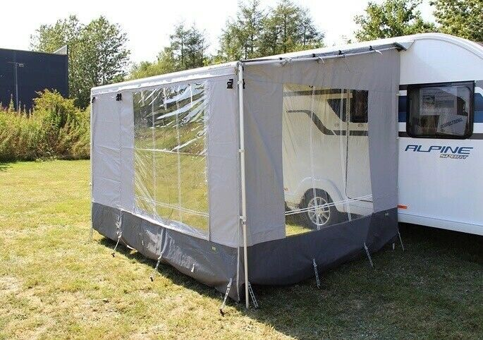 Markise, 410 cm posemarkis og WE -Camp sider/Front