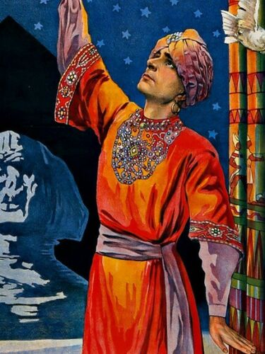 the Oriental Sorcerer 1920s Vintage Style Magician Poster 16x24 Handy Band