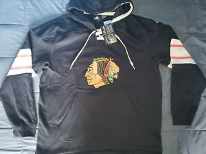 Adidas Mens Chicago Blackhawks Vintage Pullover Jersey Hoodie Size ...