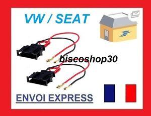 Seat Leon MK1 99-06 Speaker Adaptor Plug Leads Cable Connectors Pair