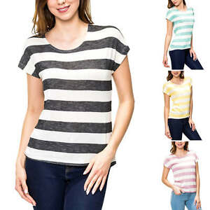 Only Damen T-Shirt Kurzarmshirt Damenshirt Shirt Basic Stretch Color Mix NEU