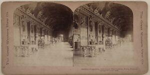 Parigi Museo Del Louvre Galerie Apollo Francia Foto Stereo Vintage Albumina