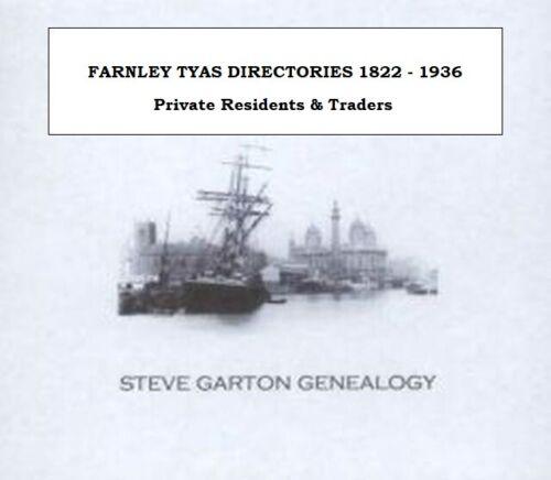 Généalogie Répertoire pour les Villes /& Villages dans le Yorkshire Farnley Tyas-gristhorpe