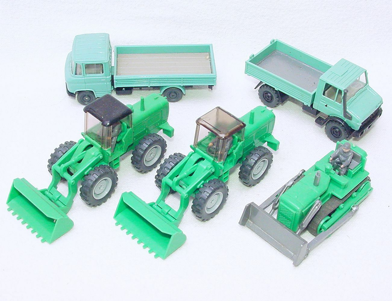 5x Wiking HO 1 87 SHOVEL DIGGER + UNIMOG TRACTOR LORRY Construction Site Lot NM