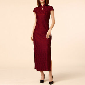 Women-Oriental-Style-Festive-Flag-Dress-Cap-Sleeve-AU-Size-8-10-12-14-16-18-7889