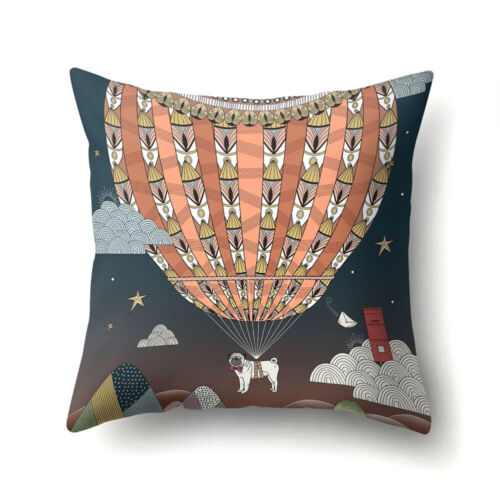 Zebra Bunny Elephant Print Pillow Case Wasit Cushion Cover Sofa Car Decor Cute