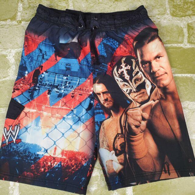 WWE JOHN CENA ROCK CM PUNK SHEAMUS UV50 Bathing Suit Swim Trunks NWT Sz 6//7 $25