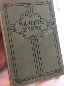 Majestic-Hymns-Hard-Cover-Robert-Coleman-Hymnal-Responsive-Reading-Vintage-1930