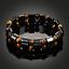 thumbnail 4 - Double Hematite Tiger's Eye Natural Bracelets Men Women Charm Bracelets Jewelry