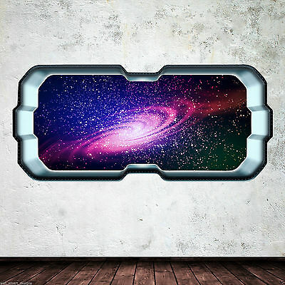 Star Galaxy Universe Space Window Full Colour Wall Art Sticker Decal Boy Bedroom