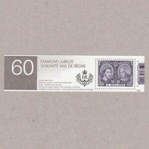 QUEEN-60th-THRONE-Anniversary-Cut-from-Souvenir-sheet-2540a-MNH-Canada-2012