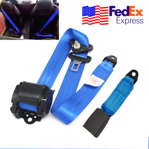 1 Set Car Auto Seat Belt Buckle Automatic 3 Point Retractable Safety Straps New