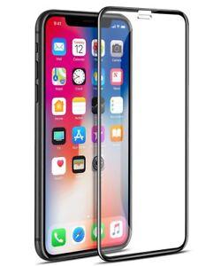 Apple-iPhone-Xs-3D-Curvo-X-Negro-Completo-Protector-de-borde-de-pantalla-de-vidrio-templado