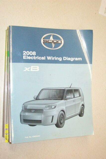 2008 Toyota Scion Xb Electrical Wiring Diagram Manual Ewd