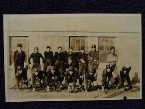 Rare-1921-1st-Football-Team-I-039-D-PESHTIGO-WI-High-School-HS-Photo-Postcard-RPPC