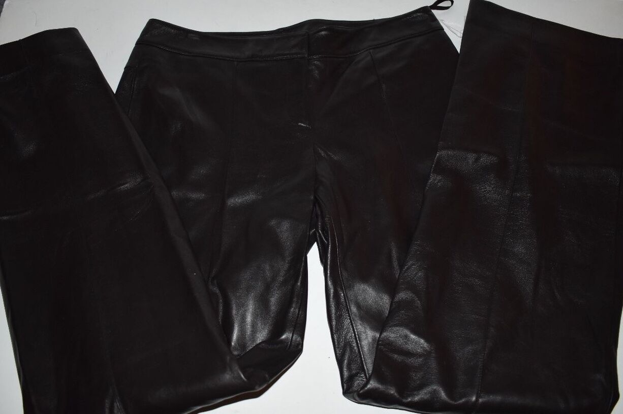 CARLISLE BROWN LEATHER SOFT LINED PANTS Size 8 NWT