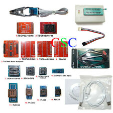 TL866A Programmer TL866 Flash BIOS PLCC MCU EEPROM IC 14+2 Adapters Sockets au