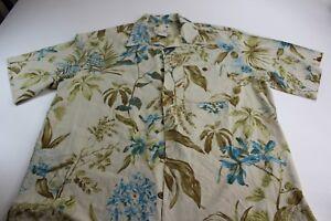 Banana-Cabana-100-Silk-Floral-Hawaiian-CAMP-SHIRT-Pocket-XL-Extra-Large