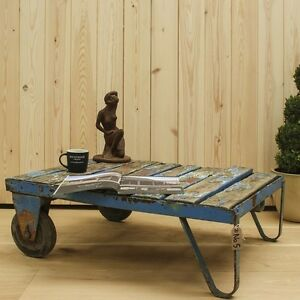 Trolley Coffee Table.Details About Reclaimed Trolley Coffee Table 5 Timber Furniture Industrial Home And Garden