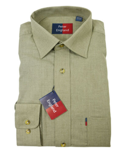 Peter England Chaud Poignée Herringbone Mélange Shirt