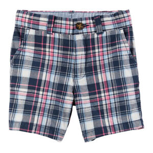 4ad207e50 NWT Carter's Toddler Boys Blue & Pink Plaid Shorts(Size 4T) NEW | eBay