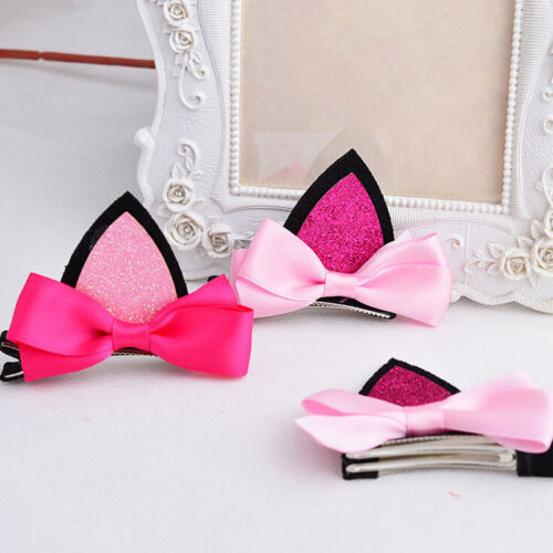 1//2 Pcs Baby Kids Girls Hair Cat Ear Clips Boutique Headwear Hair Accessories RS