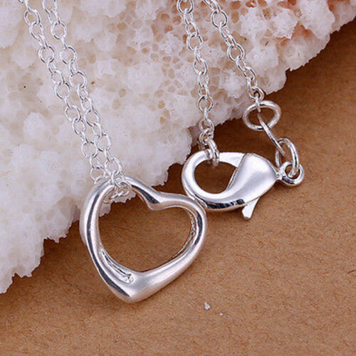 Fashion Women Silver Plated Chain Girl Beautiful Wedding Necklace with Pendant