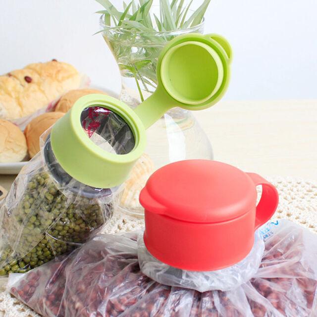 Plastic Food Storage Kitchen Airtight Sealer Reusable Bag Cap Screw YA EB