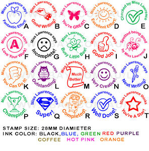 Details About Personalised Customised Self Pre Inking Teacher School Student Stamp P1 A T