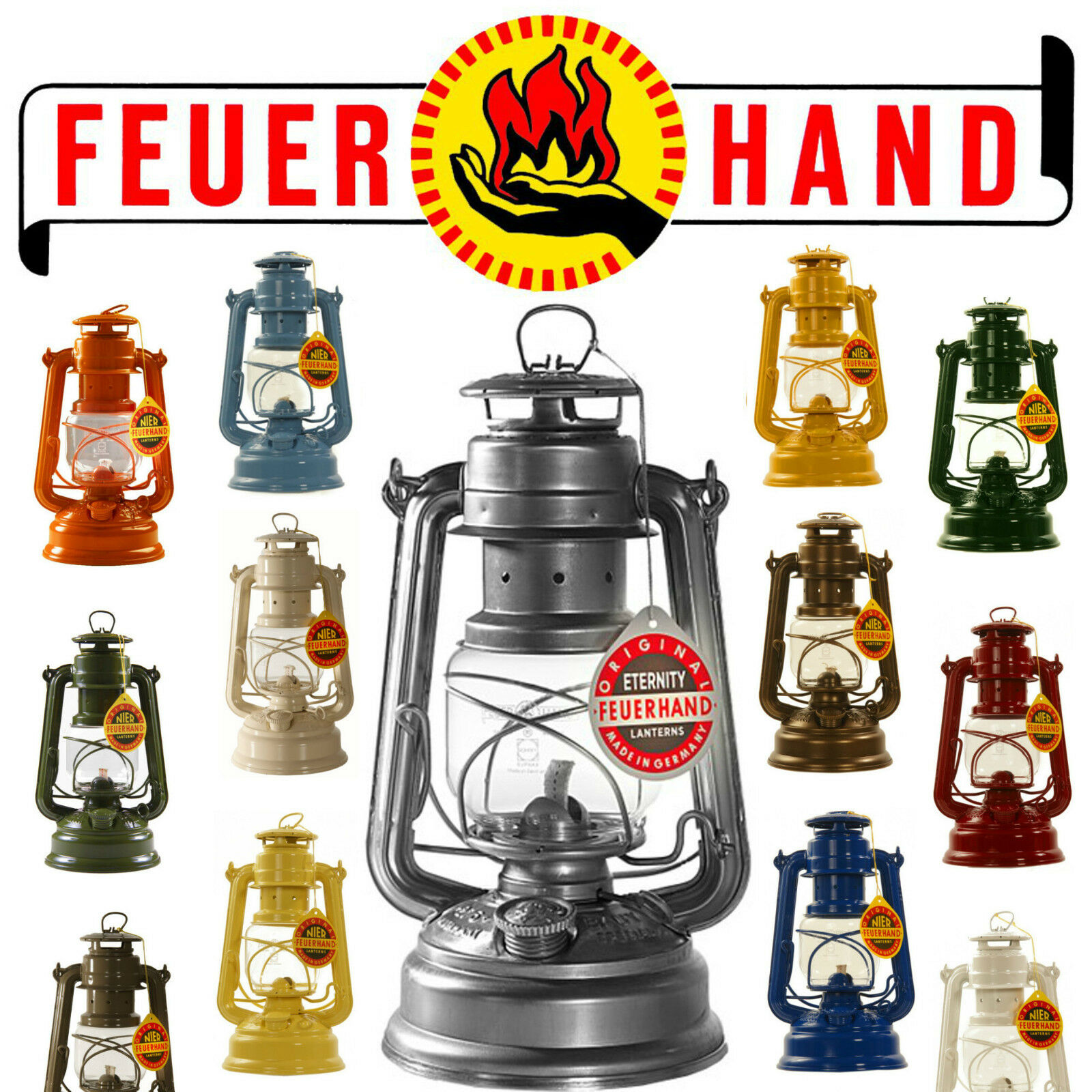 Orig. FEUERHAND   276 Baby Special storm lantern hurricane lamp, rust predected   fast delivery