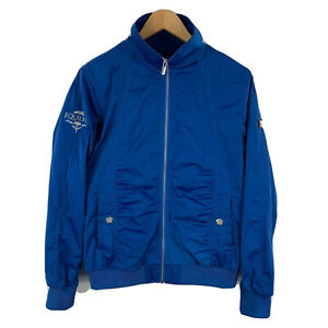 Equiline-Womens-Riding-Jacket-Size-Medium-Blue-Embroidered-Zip-Long-Sleeve-Vents