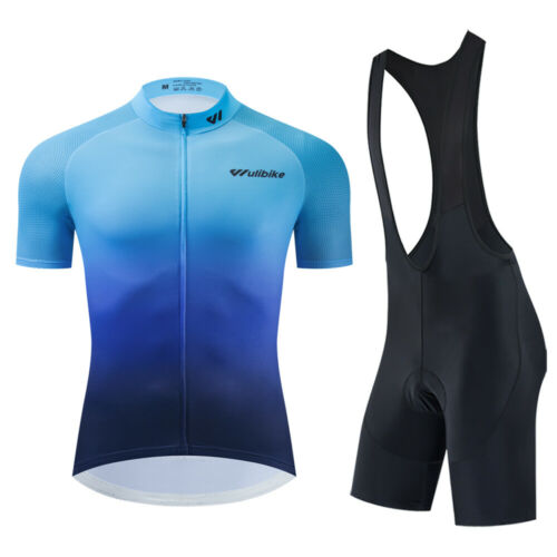 2020 Short Sleeve Cycling Mens Jersey Bib Shorts Set Bike Shirt Pad Tights Sets