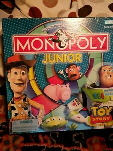 Disney Pixar Toy Story And Beyond Monopoly Junior Board Game For Ages 5 8 Ebay