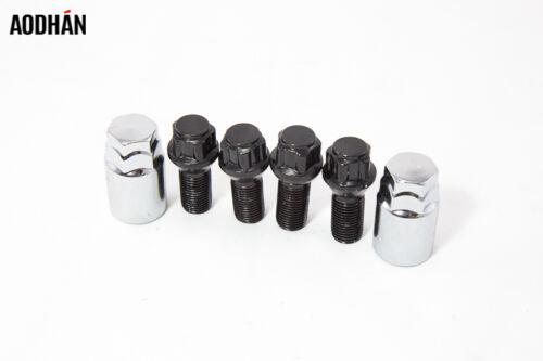 4Pcs W// Key 12X1.25 Aodhan Lock Black Lug Bolt Fit Fiat 500 Abarth Sport C Easy