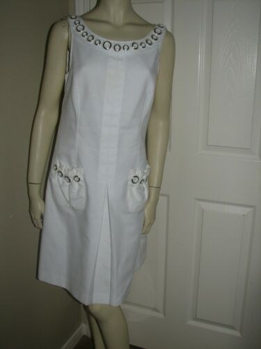 DOLCE GABBANA WHITE WITH SILVER ORNAMENTS SUN DRES