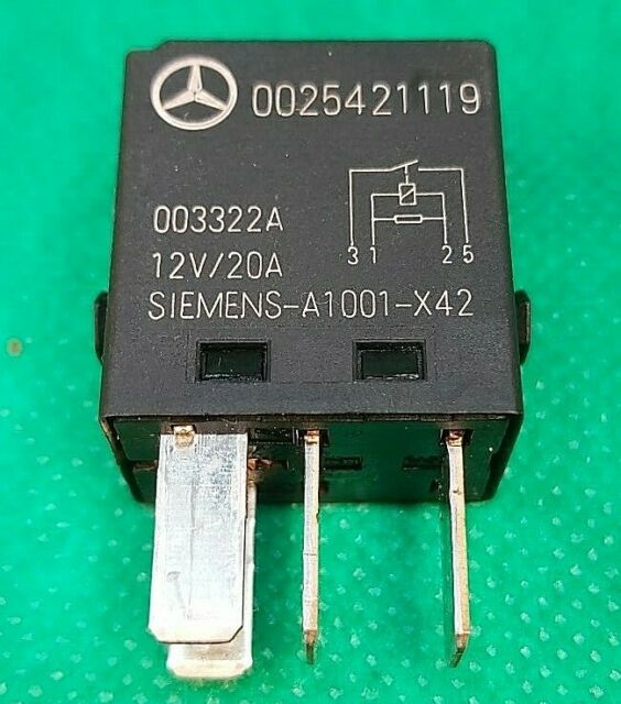 1990-2005 4-Pin Black Relay 2W93-14B192-BA Tyco V23074A1301X17 20A 13-Ford